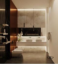 ЗD-визуализация дизайна интерьера квартиры в ЖК Садовые Кварталы в стиле современный минимализм | Фото №19