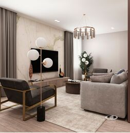 Дизайн интерьера квартиры на Охотном Ряду. Фото в современном стиле №5