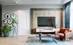 Интерьер квартиры в смешанном стиле | 3D-визуализация №1