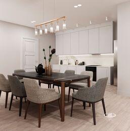 Дизайн интерьера квартиры на Охотном Ряду. Фото в современном стиле №1