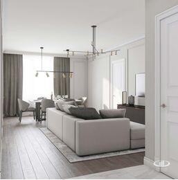 Дизайн интерьера евротрешки | Гостиная-столовая Фото №4