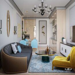 Дизайн проект квартиры в ЖК Достояние | 3D-визуализация №6