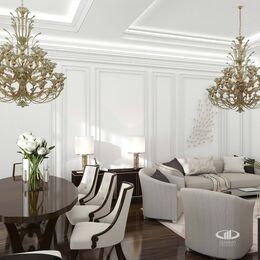 Дизайн интерьера апартаментов в стиле Ар-Деко МФК Balchug Viewpoint | Фото №2