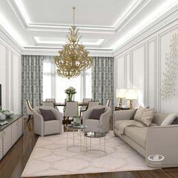 Дизайн интерьера апартаментов в стиле Ар-Деко МФК Balchug Viewpoint | Фото №3