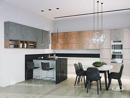 Гостиная четырёхкомнатной квартиры в современном стиле