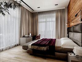 Спальня четырёхкомнатной квартиры в современном стиле