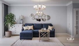 Дизайн интерьера квартиры в ЖК Марьино Град фото №1 | Гостиная