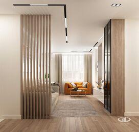 Дизайн интерьера квартиры в современном стиле ЖК Счастье в Тушино | 3d-визуализация №5