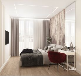 Дизайн интерьера квартиры в современном стиле ЖК Счастье в Тушино | 3d-визуализация №10