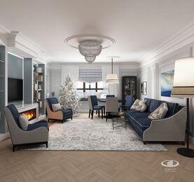 Дизайн интерьера квартиры в ЖК Дыхание | Фото №3