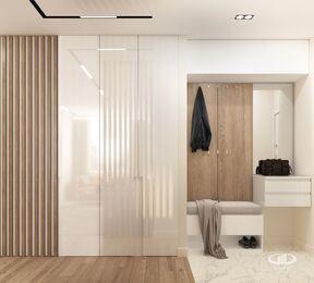 Дизайн интерьера квартиры в современном стиле ЖК Счастье в Тушино | 3d-визуализация №4