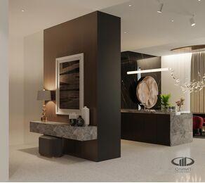 ЗD-визуализация дизайна интерьера квартиры в ЖК Садовые Кварталы в стиле современный минимализм | Фото №10