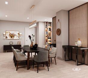 Дизайн интерьера квартиры на Охотном Ряду. Фото в современном стиле №2