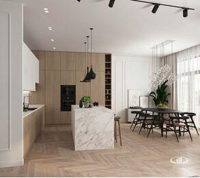 Дизайн интерьера четырехкомнатной квартиры в ЖК Balchug Viewpoint | 3d-визуализация №3