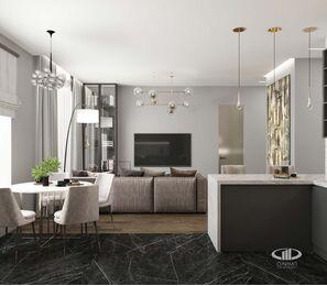 Дизайн 3-комнатной квартиры в ЖК Сити Парк | Дизайн-проект квартиры City Park | Фото №4