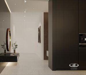 ЗD-визуализация дизайна интерьера квартиры в ЖК Садовые Кварталы в стиле современный минимализм | Фото №11