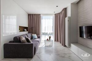 Гостинная   Минимализм в интерьере квартиры реальное фото 3