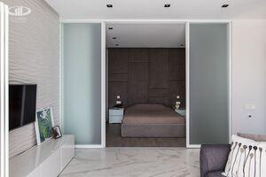 Гостинная   Минимализм в интерьере квартиры реальное фото 5