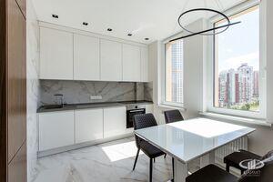Кухня   Минимализм в интерьере квартиры реальное фото 1