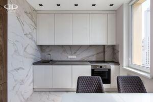 Кухня   Минимализм в интерьере квартиры реальное фото 3