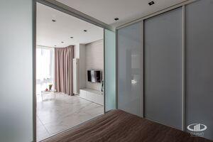 Спальня   Минимализм в интерьере квартиры реальное фото 2
