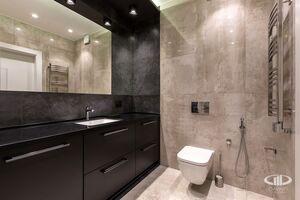 Ванная комната   Минимализм в интерьере квартиры реальное фото 1