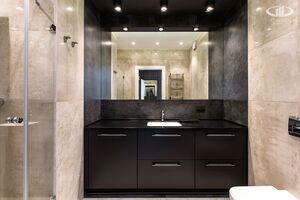 Ванная комната   Минимализм в интерьере квартиры реальное фото 2