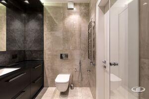 Ванная комната   Минимализм в интерьере квартиры реальное фото 3
