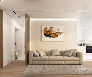 Дизайн интерьера квартиры в современном стиле ЖК Счастье в Тушино | 3d-визуализация №3