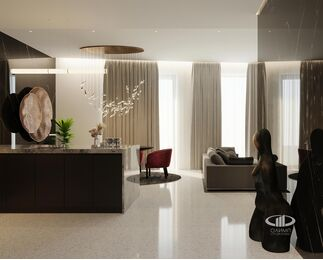 ЗD-визуализация дизайна интерьера квартиры в ЖК Садовые Кварталы в стиле современный минимализм | Фото №1