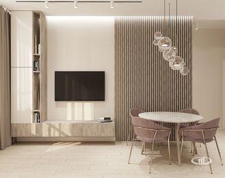 Дизайн интерьера квартиры в ЖК Сердце столицы | 3D-визуализация №2