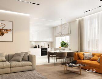 Дизайн интерьера квартиры в современном стиле ЖК Счастье в Тушино | 3d-визуализация №6