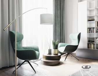 3D-визуализация дизайна интерьера квартиры в современном стиле | ЖК RedSide фото №3