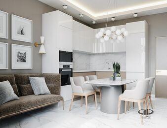 3D-визуализация дизайна интерьера квартиры в современном стиле | ЖК RedSide фото №4