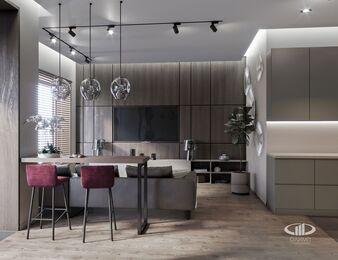 Квартира в современном стиле ЖК RedSide | 3d-визуаизайия №3