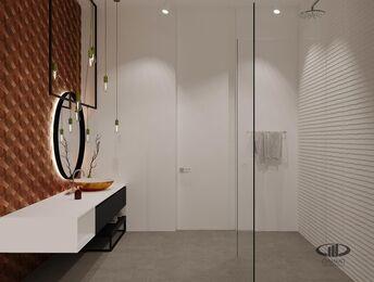 ЗD-визуализация дизайна интерьера квартиры в ЖК Садовые Кварталы в стиле современный минимализм | Фото №35