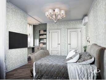 Дизайн интерьера 3-комнатной квартиры в ЖК Мосфильмовский   Фото №2