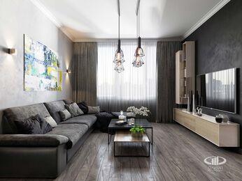 Визуализация интерьера квартиры в современном стиле №1