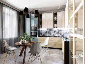 Визуализация интерьера квартиры в современном стиле №2