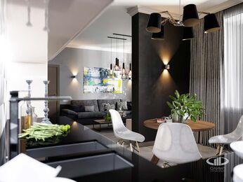 Визуализация интерьера квартиры в современном стиле №3