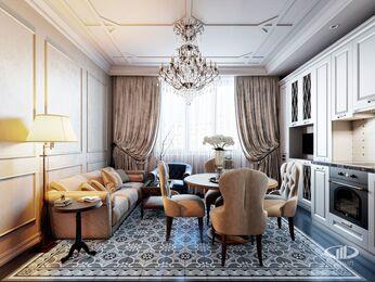Квартира в классическом стиле | Визуализация №3