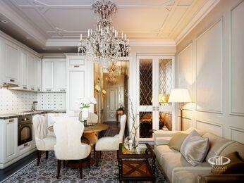 Квартира в классическом стиле | Визуализация №4