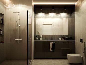 Визуализация интерьера квартиры в современном стиле в ЖК Мосфильмовский 9