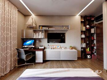 Детская комната в современном стиле | 3D-визуализация №4