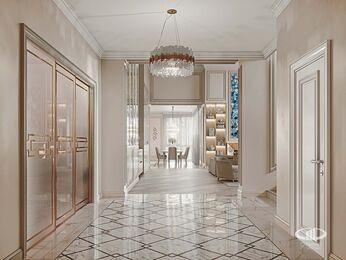 Дизайн интерьера дома в стиле Ар-Деко | Холл | Визуализация №2