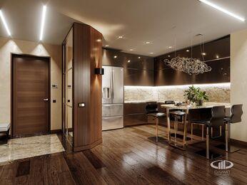 Дизайн интерьера квартиры в ЖК Авеню 77   Стиль Ар-Деко   Фото №3