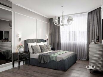 Дизайн двухкомнатной квартиры в ЖК Мосфильмовский   Неоклассика   Фото №9