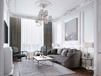 Дизайн интерьера 2-х комнатных апартаментов в МФК Balchug Viewpoint | 3d-визуализация №2