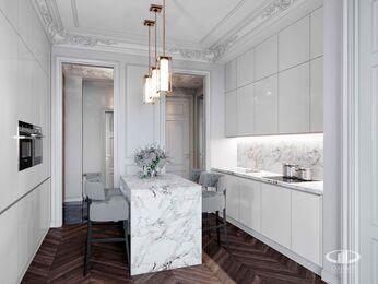 Дизайн интерьера 2-х комнатных апартаментов в МФК Balchug Viewpoint | 3d-визуализация №4