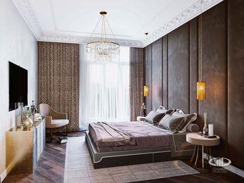 Дизайн интерьера 2-х комнатных апартаментов в МФК Balchug Viewpoint | 3d-визуализация №6